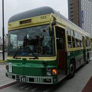 かつての路面電車を復活させたようなバス