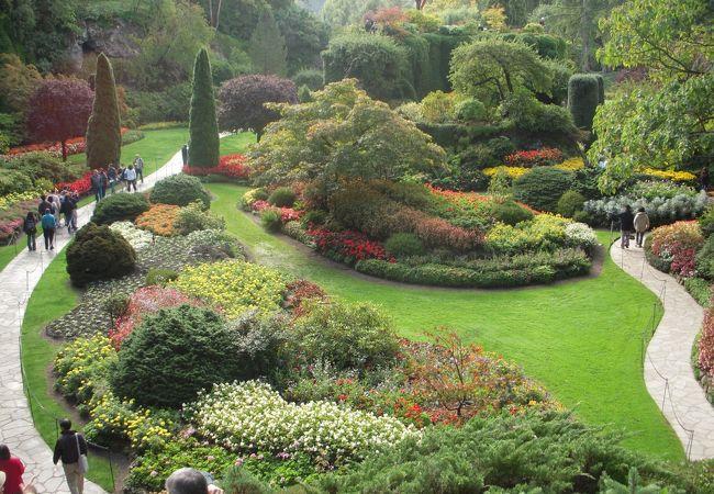 1904年から造園が始められ、広大な敷地にいろいろな庭園が点在しており、なかなか見ごたえがあるビクトリア観光の目玉になっている美しい庭園です。