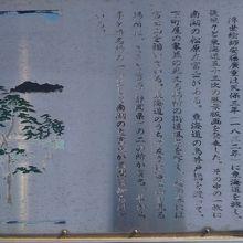 南湖の左富士之碑案内