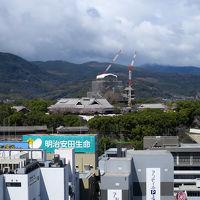 正面は熊本城、修復が終わったら世一層美しい姿でしょうね
