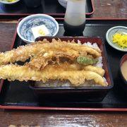穴子の天ぷらが美味しい