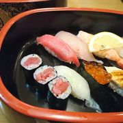 空港価格ですがおいしいお寿司です。
