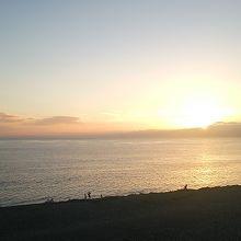 夕日は絶景です