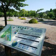 岐阜駅前にある清水緑地