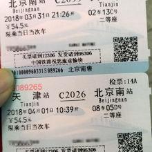切符。翌日など事前購入も可能です(JRと同じね)
