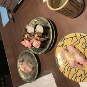 金沢駅で食べる回転寿し