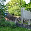 写真:水防団体設立の記念碑