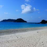 座間味港から近く海の綺麗さは抜群のビーチ