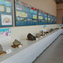 岩石の展示