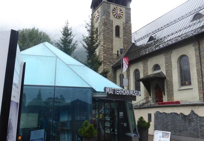 アルプス登山の歴史を紹介するマッターホルン博物館