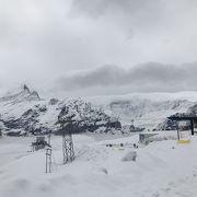 美しい雪山にうっとり