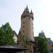 フランクフルトの街の北の方にあります。