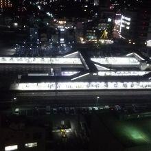 八王子駅の電車の行き来が見れます