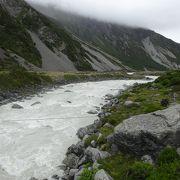 フッカーバレーの氷河湖まで