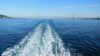 12時間半の乗船では船から見る景色でちょっと非日常を感じました。