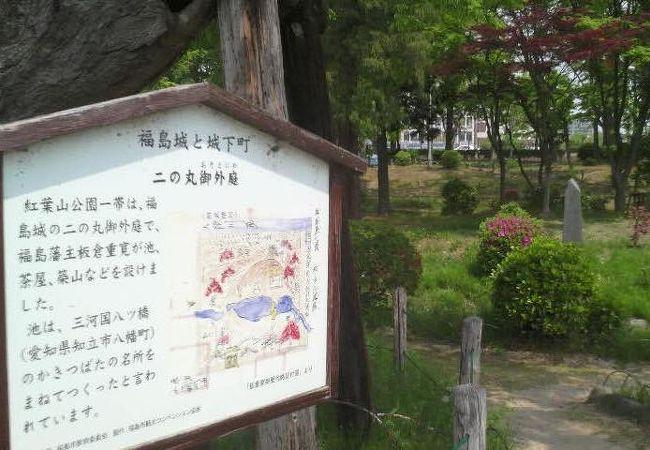 福島城の二の丸外庭だったそうですが…