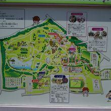 園内の案内図。