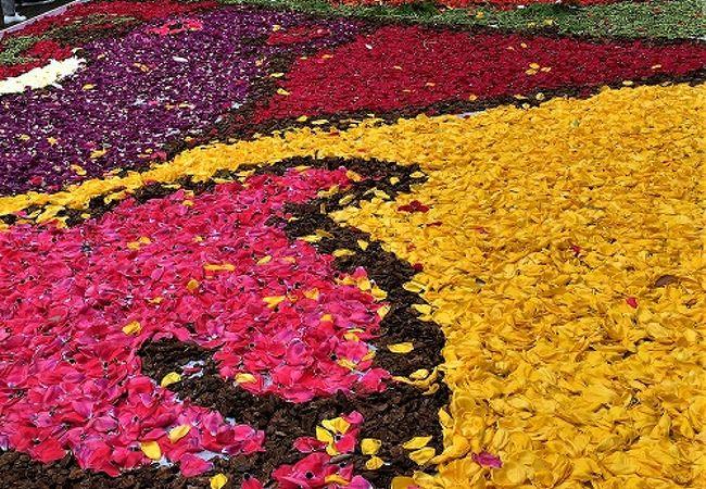神戸のお花で飾った道 インフィオラータ