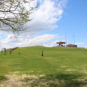 5月下旬には淡い緑色の緩やかな草原が拡がっているだけでした。