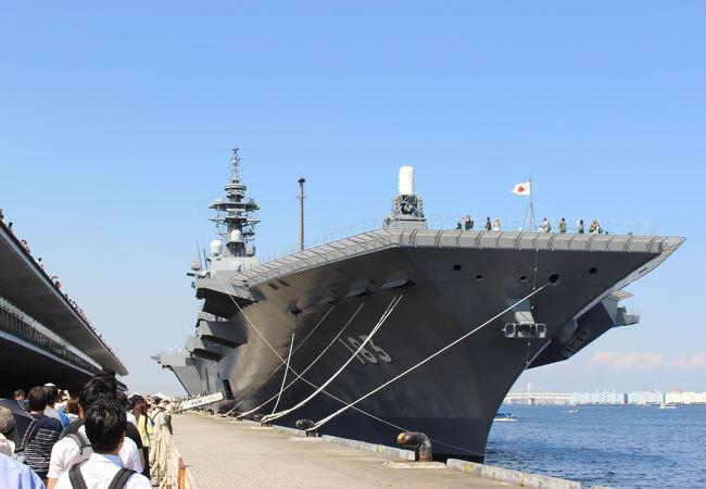 護衛艦「いずも」が一般公開されていました