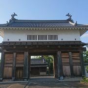 復元された掛川城大手門!!