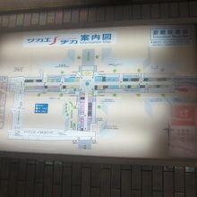 地下街案内図の様子