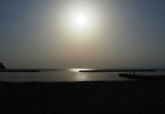 夕陽を見る絶好のポイント