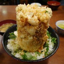 丸天名物の海鮮かき揚げ丼