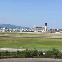 公園から見る伊丹空港