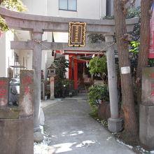 神社の入り口です。