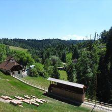 城から見た景色