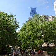 豊かな緑の多い公園。