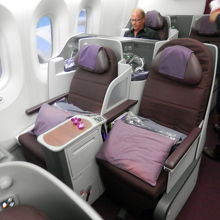 787-8のビジネスクラスのシートは狭い・・