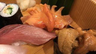 落ち着いた雰囲気で美味しいお寿司がいただけます。
