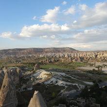 ギョレメの高台からの風景。