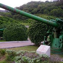 戦争当時に使われていた大砲(日本製)