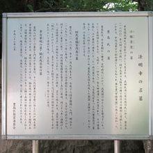 名墓の説明板