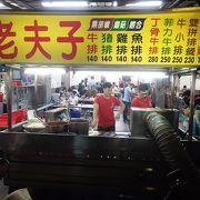 ホテルで教わり、台中駅から徒歩10分ほど。いろいろある中から、500円ステーキを食べてきた