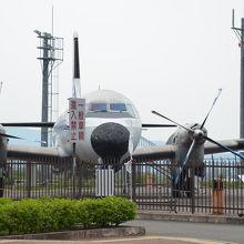 空港横に展示されています(YS−11機)