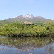 妙高山が池に映り込んで、よい景色でした