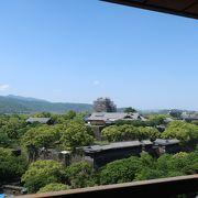 熊本城を上から ♪