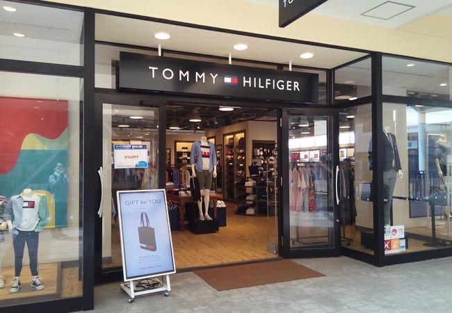 トミーヒルフィガーのアウトレット店