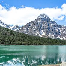 雪山と 湖 最高でした〜