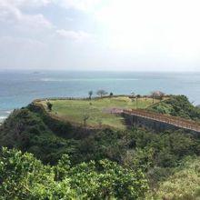 知念岬展望台からの景色。