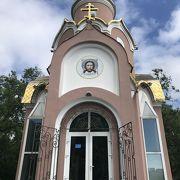 小さなピンクの教会