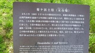 菊ケ浜土塁(女台場)