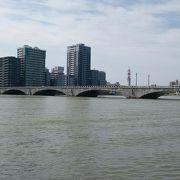 信濃川に架かる万代橋