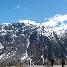 雄大で 雪山がきれいでした!!