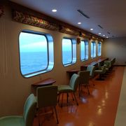 二等船室でもプライベートが確保されています