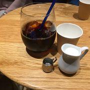 横浜駅の地下の南北連絡通路に突然現れたお洒落なカフェ